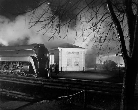 Meeting of N&W #2 and B&O #7, (Steam meets Diesel.), 1957