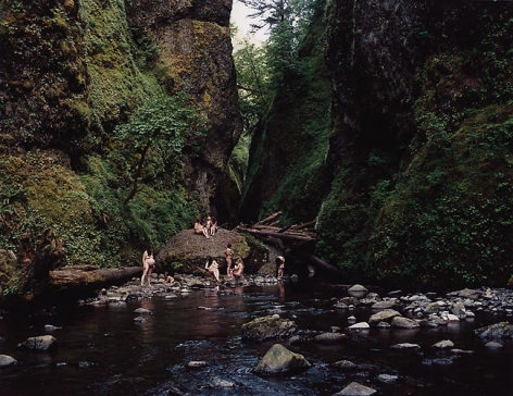 Oneonta Gorge, Log Jammed, 2007, 30 x 40 in.
