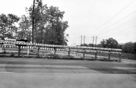 Mailboxes, New Jersey, 1954, 11 x 14 inch gelatin silver print