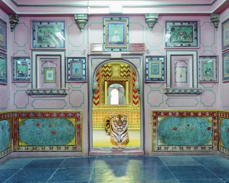 Interloper, Sheesh Mahal, Udaipur City Palace, 2019, Archival pigment print