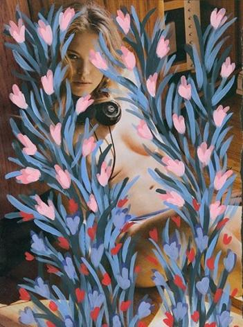 Untitled (Kristy Garrett by Sasha Eisenman for Playboy - last nude playmate/last nude issue, January/February, 2016), 2016, Acrylic on Magazine Page
