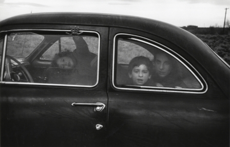 Family on the Road. 1955, 11 x 14 inch gelatin silver print