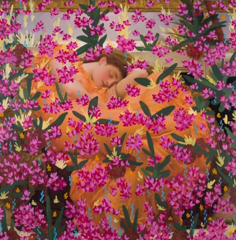 Untitled (Flaming June by Frederic Leighton, 1895), 2017, 36.625 x 36.125 inches