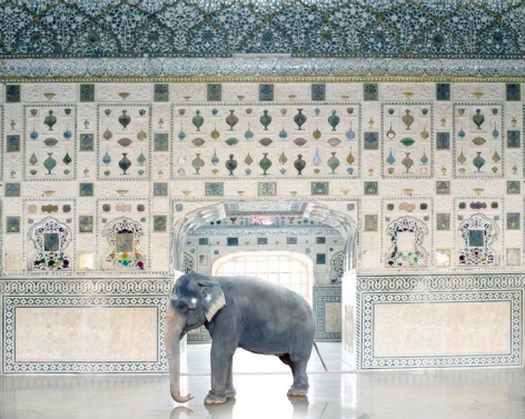 Temple Servant, Amber Fort, Jaipur 2014, 	48 x 60 inch archival pigment print