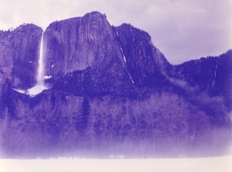 Winter Morning Fog, Bridal Veil Falls, Yosemite, California, 2013, 40 x 52 inch c-print