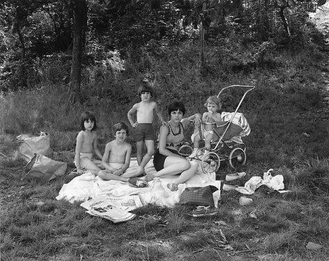 Picnic on Garret Mountain, Paterson, NJ, 1968.