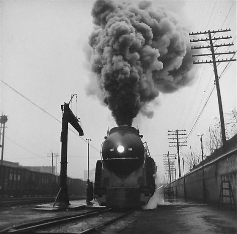 Train 16 leaves Williamson, 1958