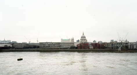 "River Thames, From the series Horizons, 2002, 	12 x 22"" C-Print"
