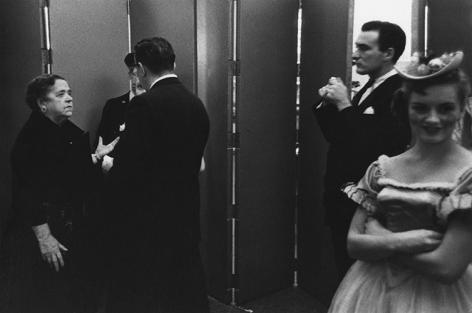 William Klein and Elsa Maxwell NYC. 1955, 11 x 14 inch gelatin silver print