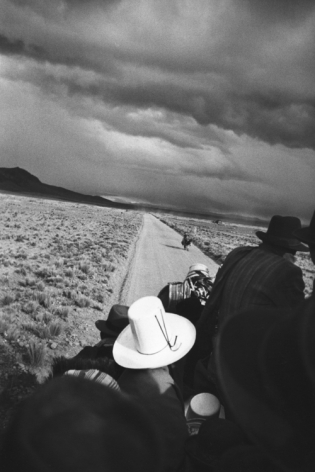On the Road to La Paz. 1948, 14 x 11 inch gelatin silver print