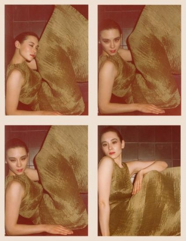 Tina Chow. 1975, 	Four 4.5 x 3.25 inch unique vintage Kodak prints