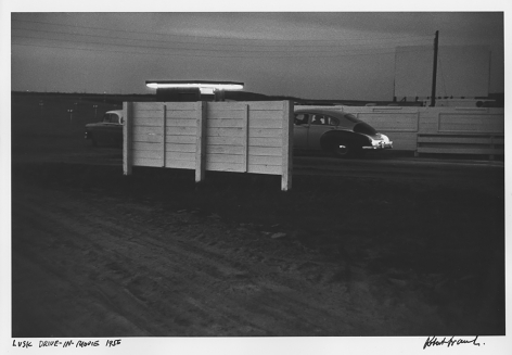 Lusk Drive-In Movie, 1956, Print Date 1978