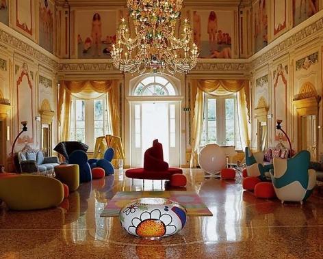 """Alberto Narduzzi. The Byblos Art Hotel Lobby.  2004.  40 """"x 50"""""""