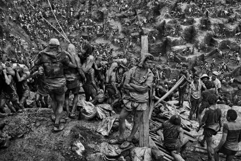The Gold Mine, Serra Pelada, State of Pará, Brazil (Man Against Post). 1986
