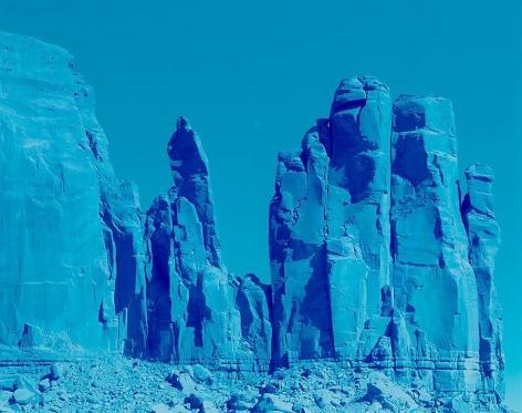 Moon Over Rocks, Monument Valley, Arizona, 2013, 48 x 56 inch c-print