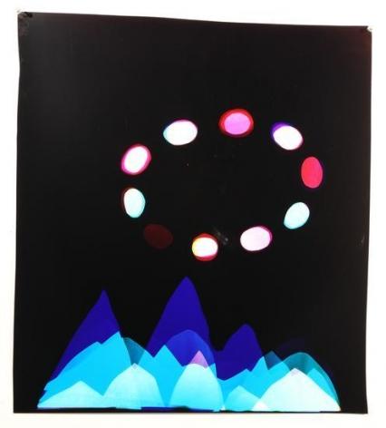Mountains with UFO, 2016, Analog Chromogenic Photo, Unique