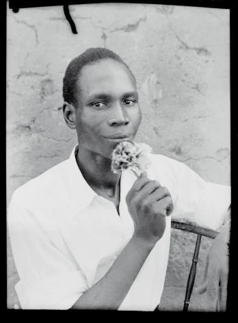 Self-Portrait. ca. 1955, 16 x 12 inch gelatin silver print