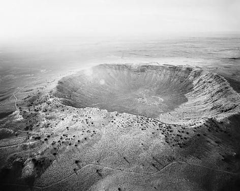 Meteor Crater Looking Northwest, Near Winslow, AZ; 2011, 24 x 30 inch pigment print - Edition of 5