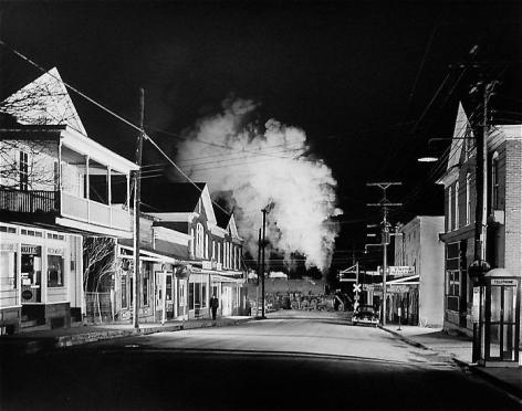 Officer Painter Patrols Main Street., Stanley, Virginia. 1956