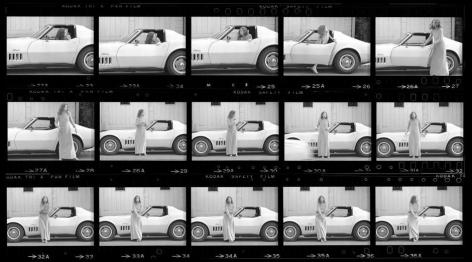 Joan Didion. Hollywood. 1968, Contact Sheet 1