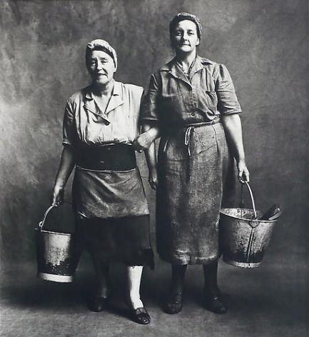 Irving Penn Cleaning Women, London.  1950