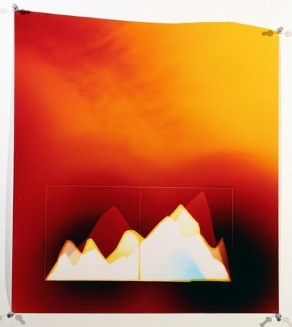 Red Sunset Mountains, 2016, Analog Chromogenic Photo, Unique