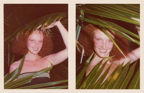 Grace Coddington. 1975, 	Two 4.5 x 3.25 inch unique vintage Kodak prints