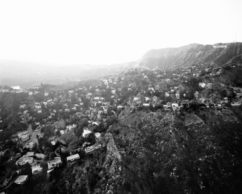 Michael Light, Hollywood Hills From Griffith Park, Beachwood Drive and Hollywood Reservoir at Left, CA, 2004
