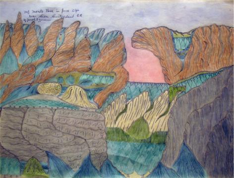 Joseph Yoakum, Mt. Monte Rosa in Jura Alps,c. 1970