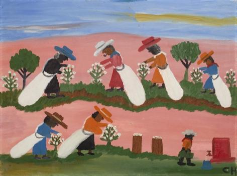 Clementine Hunter Picking Cotton, c. 1950s