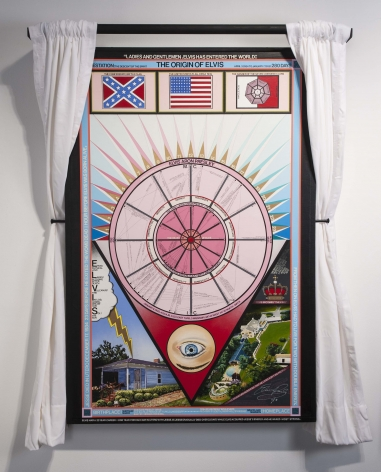 Paul Laffoley The Origin of Elvis (280 Days of Gestation and the Entering the Birth Canal, to Twin Birth), 1988-1995
