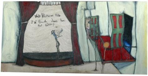 Brent Green Walt Whitman Talks JW Booth Down From that Balcony, 2007