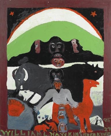 William Hawkins Nine Faces of Modern Man, 1984