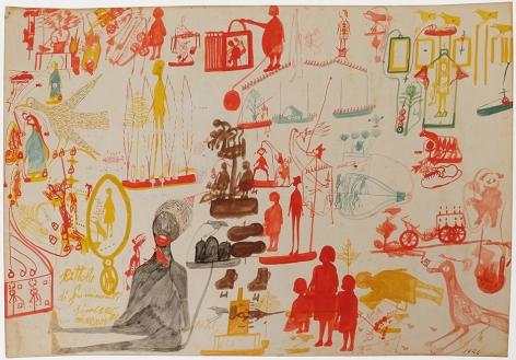 Carlo Zinelli, Untitled,1956