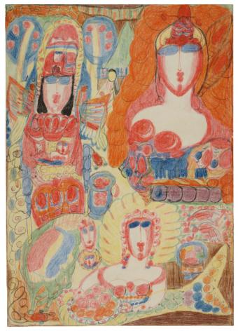 Aloïse Corbaz Untitled, 1946-1947