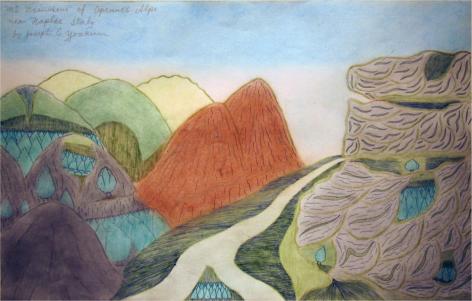 Joseph Yoakum, Mt. Vesuvios of Apennes Alps near Naples Italy,c. 1970