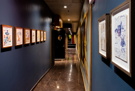 Daniel Johnston: Psychedelic Drawings, Installation view at Electric Lady Studios. Photo by Olya Vysotskaya.