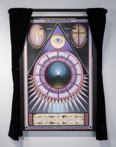 Paul Laffoley Destination of Elvis (Jan 8, 1976: Begins the Death Recession), 1988-1995