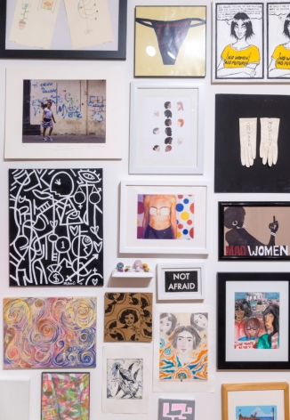 Installation view,Onwardbooth, Outsider Art Fair 2018.