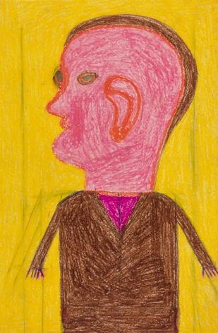Eddie Arning Untitled [Portrait of a Man], c. 1967