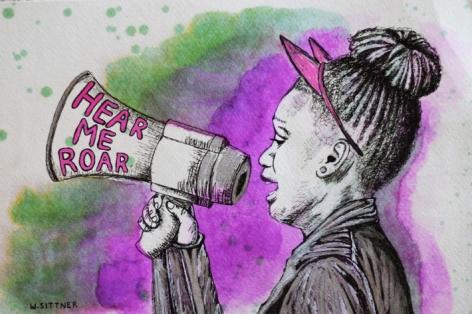 Wendy Sittner,Young Activist,2017, 15 x 11 in