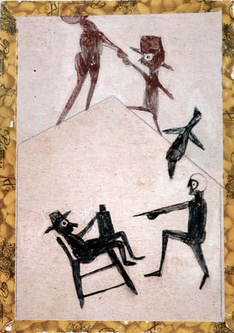 Bill Traylor, Untitled, (Drinking Bout),1938-1943