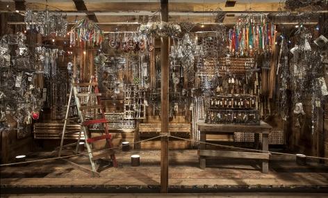 Emery Blagdon, The Healing Machine (installation view, An Encounter with Presence: Emery Blagdon+Shannon Stratton, John Michael Kohler Arts Center, 2017), ca. 1955–1986 John Michael Kohler Arts Center, gift of Kohler Foundation Inc.