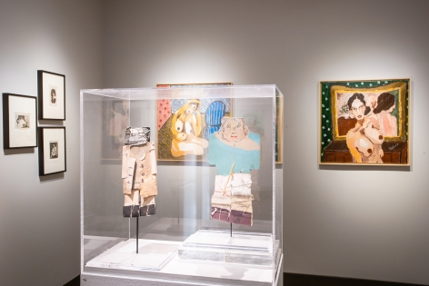 To Be Human: The Figure in Self-Taught Art, Installation view at Hirschl & Adler,Photo by Olya Vysotskaya.