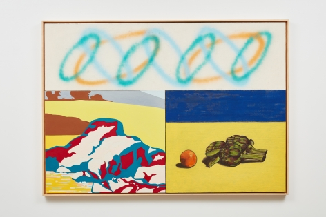 DAVID SALLE Artichokes and Orange, 2000