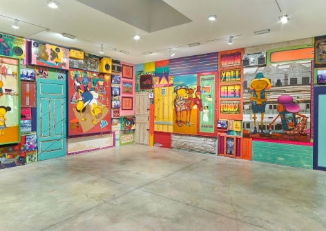 OSGEMEOS, Silence of the Music installation view 11