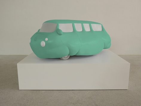 ERWIN WURM, Fat Bus (green), 2016