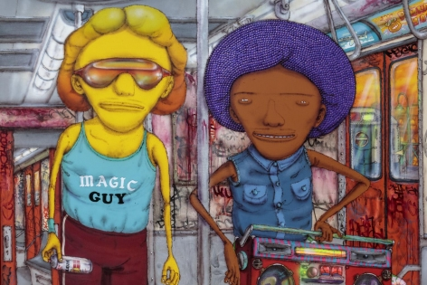 OSGEMEOS The layup afternoon train (detail), 2017