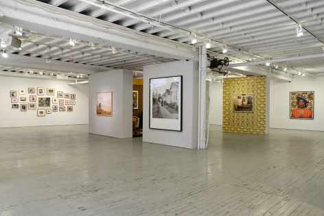 Muse: Mickalene Thomas Photographs and tête-à-tête, Installation view, Aperture Foundation, NY, NY