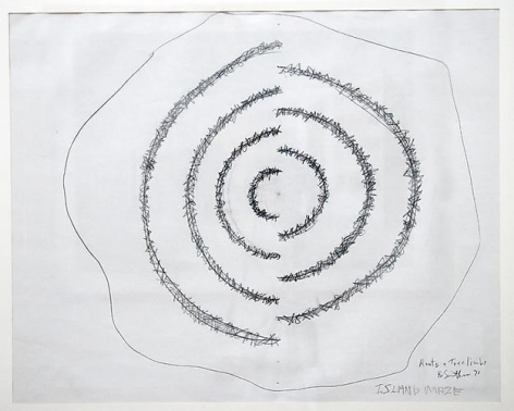 ROBERT SMITHSON Island Maze (Roots & Tree Limbs), 1971